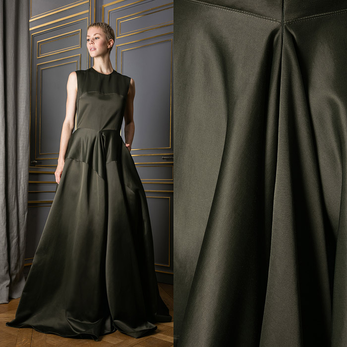 Khaki colored gown